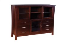 Soho 3 Door Great Room Cabinet with Plain Glass