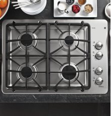 "DISCONTINUED FLOOR MODEL GE Profile™ Series 30"" Built-In Gas Cooktop"
