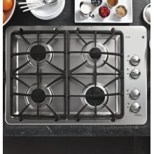 "DISCONTINUED FLOOR MODEL GE Profile™ Series 30"" Built-In Gas Cooktop"