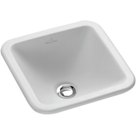 Drop-in washbasin (square) Angular - White Alpin CeramicPlus