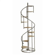 Darby Spiral Staircase Metal and Wood Display Piece