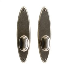 """Oval Privacy Set - 2 1/2"""" x 10"""" Silicon Bronze Brushed"""