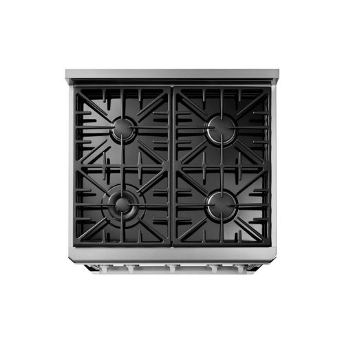 """30"""" Heritage Gas Epicure Range, Silver Stainless Steel, Liquid Propane/High Altitude"""