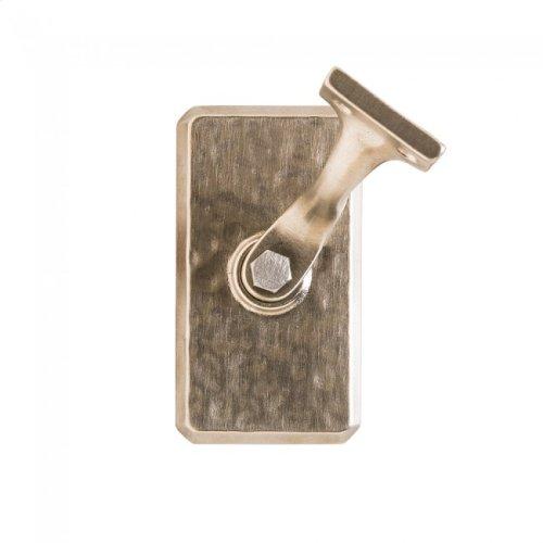 Hammered Handrail Bracket Silicon Bronze Brushed