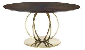 Jet Set Round Dining Table in Jet Set Caviar (356)