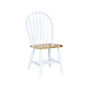 JOHN THOMAS FURNITUREArrowback Chair in White & Natural
