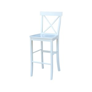 JOHN THOMAS FURNITUREX-Back Stool in White