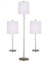 Selma - 3 Pack - 2 Table Lamps, 1 Floor Lamp