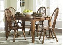 Solid Top Leg Table - Oak