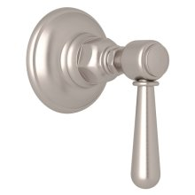 Satin Nickel Verona Trim For Volume Control And 4-Port Dedicated Diverter with Verona Series Only Metal Lever