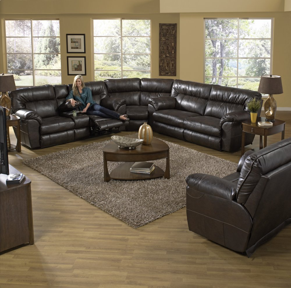 Extra Wide Reclining Sofa   Chestnut