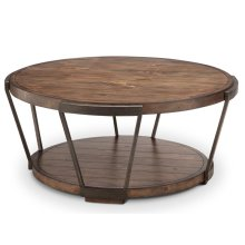 Round Cocktail Table (w/ Casters)