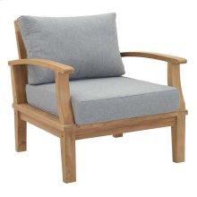 Marina Outdoor Patio Premium Grade A Teak Wood Armchair in Natural Gray