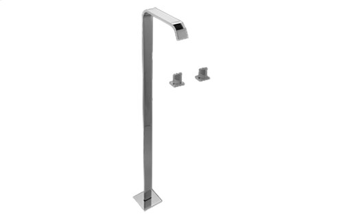 Targa Floor-Mounted Tub Filler w/Wall-Mounted Handles