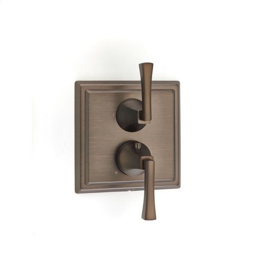 Dual Control Thermostatic with Diverter and Volume Control Valve Trim Leyden (series 14) Bronze