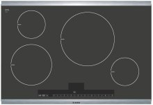 30 Induction Cooktop with Touch Control 500 Series - Black with Stainless Steel Strips
