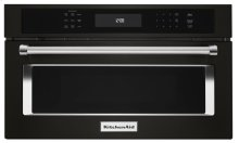 "27"" Built In Microwave Oven with Convection Cooking - Black Stainless"