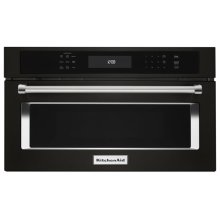"""27"""" Built In Microwave Oven with Convection Cooking - Black Stainless Steel with PrintShield™ Finish"""