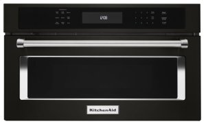 """27"""" Built In Microwave Oven with Convection Cooking - Black Stainless Steel with PrintShield™ Finish Product Image"""