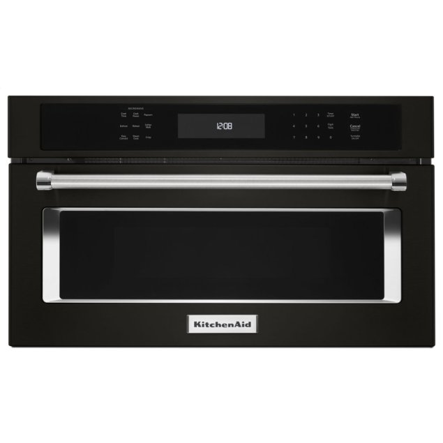 """KitchenAid 27"""" Built In Microwave Oven with Convection Cooking - Black Stainless Steel with PrintShield™ Finish"""