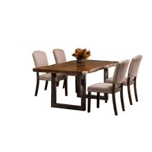 Emerson 5-piece Rectangle Dining Set - Natural Sheesham