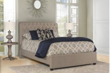 Napelton King Bed - Natural Herringbone