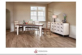 Wooden Dining Table- White and brown finish - KD System