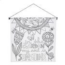 """In the Garden My Soul is Sunshine"" Wall Banner. Product Image"