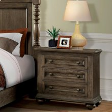 Cassidy - Three Drawer Nightstand - Aged Cask Finish