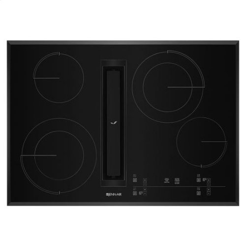 """JennAir® Euro-Style 30"""" JX3 Electric Downdraft Cooktop with Glass-Touch Electronic Controls - Black"""