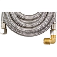 Braided Stainless Steel Dishwasher Connector with Elbow (8ft)