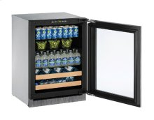 """2000 Series 24"""" Beverage Center With Integrated Frame Finish and Field Reversible Door Swing"""