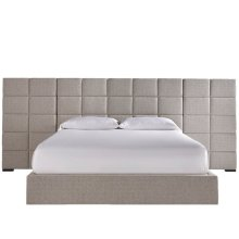 Bacall King Bed with Wall Panels