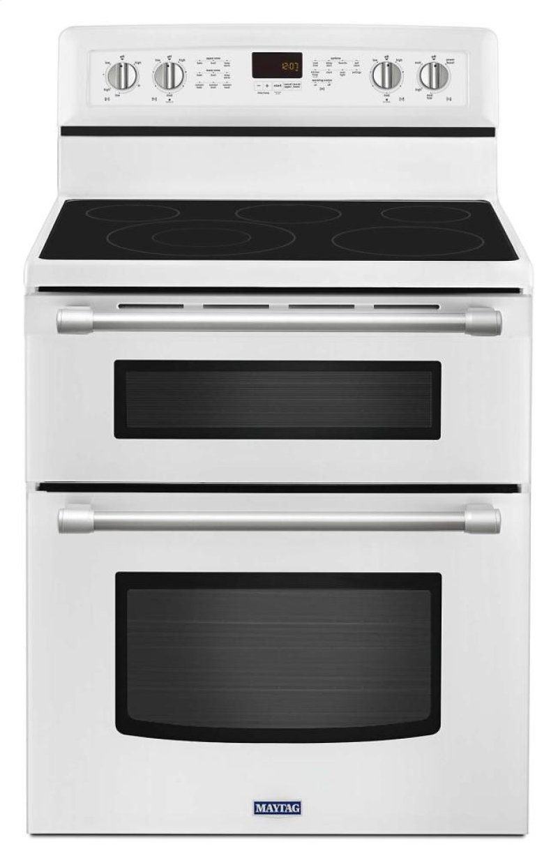 30 Inch Wide Double Oven Electric Range With Tm Element 6 7 Hidden Maytag Logo