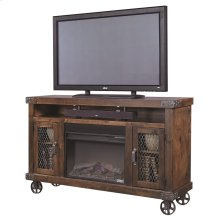 """62""""Fireplace Console"""