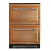24 Inch Overlay Panel Door Undercounter Refrigerator Drawer