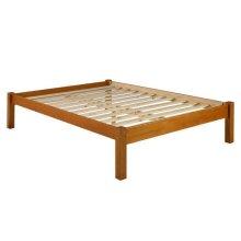 Montana Mahogany Twin Platform Bed w/ 2 Storage Drawers