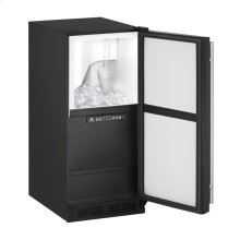 "15"" Clear Ice Machine Black Solid Field Reversible (Pump Not Included)"