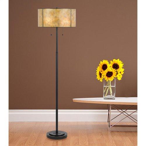 60W X 2 Mica Floor Lamp