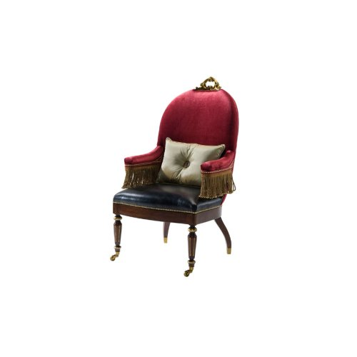 The Red Earl's Accent Chair
