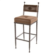 Forest Hill Iron Stool with Padded Back