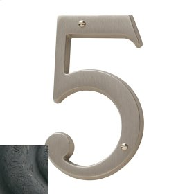 Distressed Oil-Rubbed Bronze House Number - 5