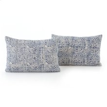 Lumbar Style Faded Mosaic Print Pillow, Set of 2