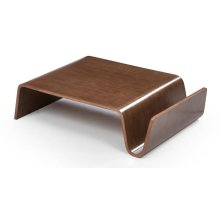 Modrest Milford Modern Walnut Coffee Table