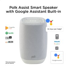 Smart Speaker with the Google Assistant Built-In in Cool Gray