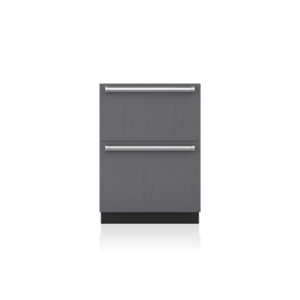 "Subzero24"" Designer Freezer Drawers with Ice Maker - Panel Ready"