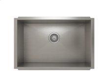 """Stainless steel kitchen sink, handcrafted With Urban style corners [0""""]"""