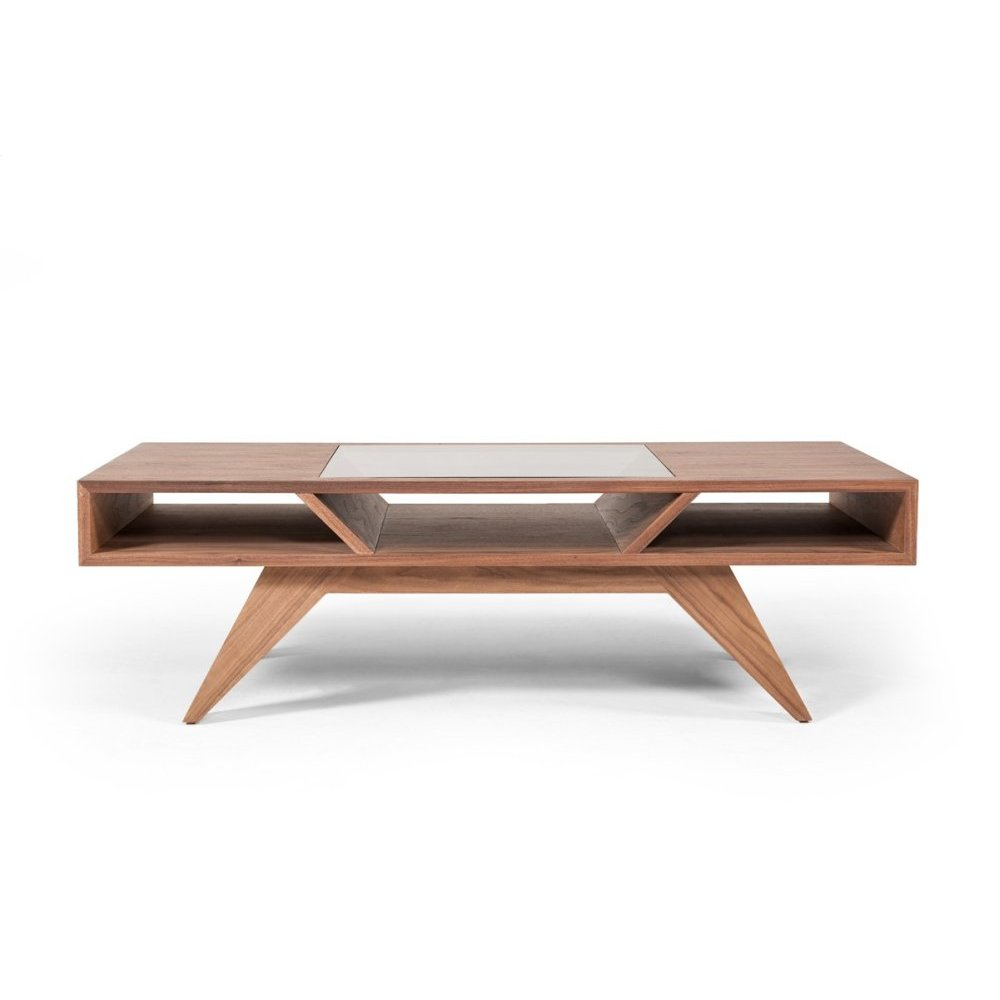 Modrest Dublin Modern Walnut Coffee Table