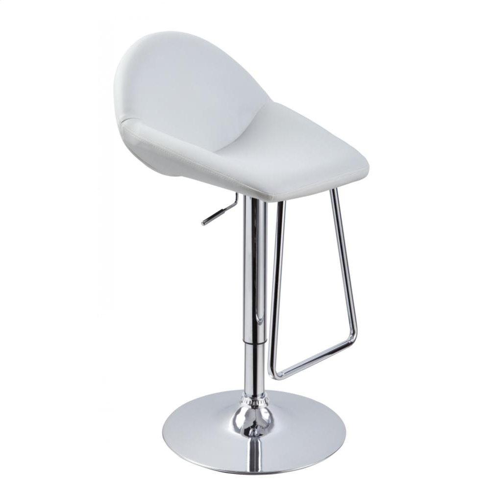 Modrest Mel - Contemporary White Eco-Leather Bar Stool