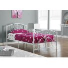 BED - TWIN SIZE / WHITE METAL FRAME ONLY Product Image